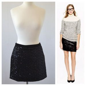 J. Crew sequin mini skirt